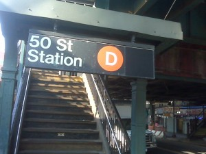 The M train icon on subway signs for the New Utrecht line are blacked out--but several people weren